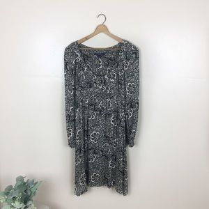[French Connection] Boho Brown Floral Dress